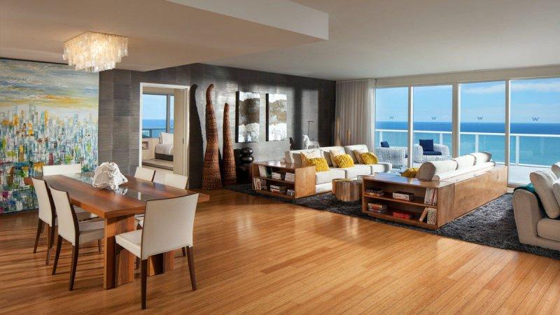 W Hotel Fort Lauderdale Room Service Menu