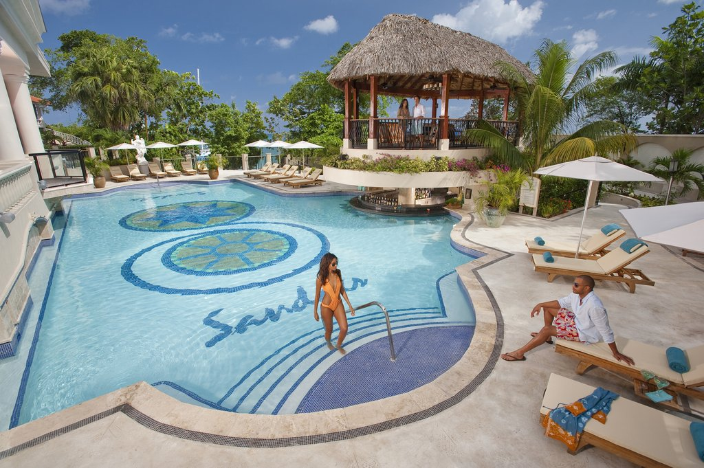 Sandals ochi beach resort cheap vacations packages red - Riviera pool ...