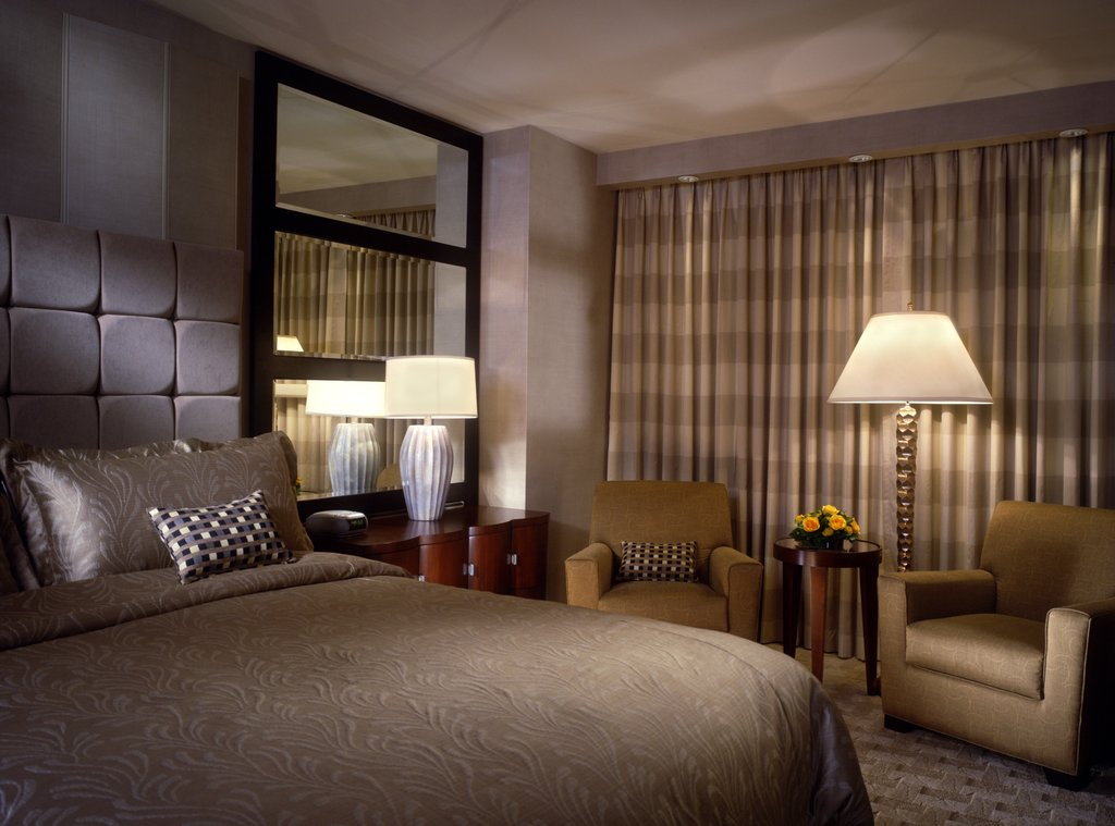 Book the Mandalay Bay Resort And Casino - 3 miles from the airport, the story Mandalay Bay Resort sits on 60 acres at the south end of the Strip; a complimentary monorail connects it to the Luxor and Excalibur hotels.