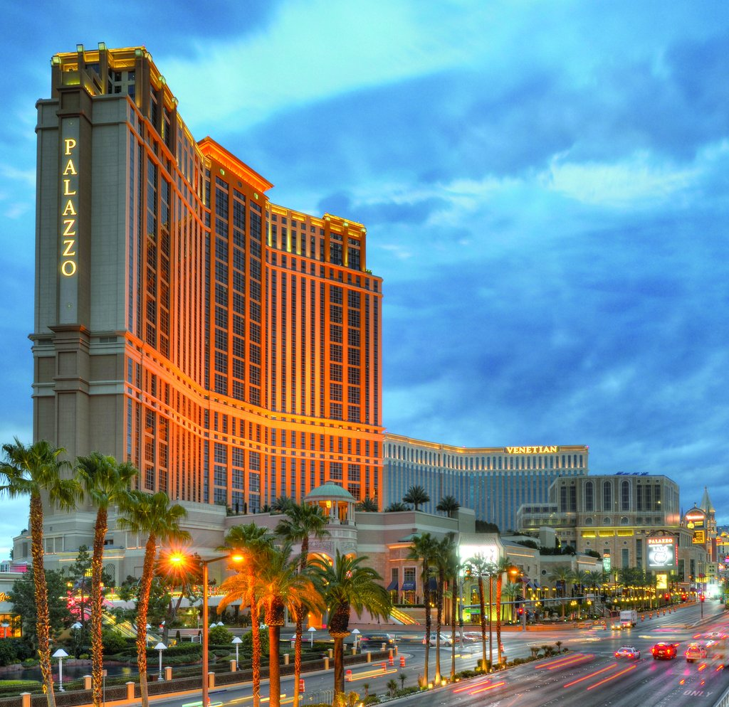 Book the The Palazzo at The Venetian - This luxurious resort and casino is on the Las Vegas Strip, connected to sister property The Venetian by walks and waterways. Downtown is 3 miles away and McCarran Airport is within 4 miles.